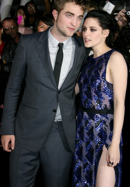 The Twilight Saga: Breaking Dawn - Part 1 premiere, Los Angeles - Robert Pattinson and Kristen Stewart