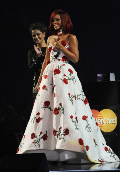 BRIT Awards 2011 - Rihanna and Cheryl Cole