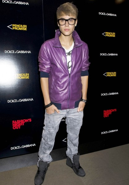 Justin Bieber - Dolce & Gabbana's Fashion Night Out, New York, America - 08 Sep 2011
