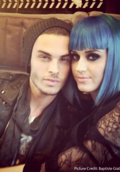 Katy Perry and Baptiste Giabiconi cuddle up - Twitter pic