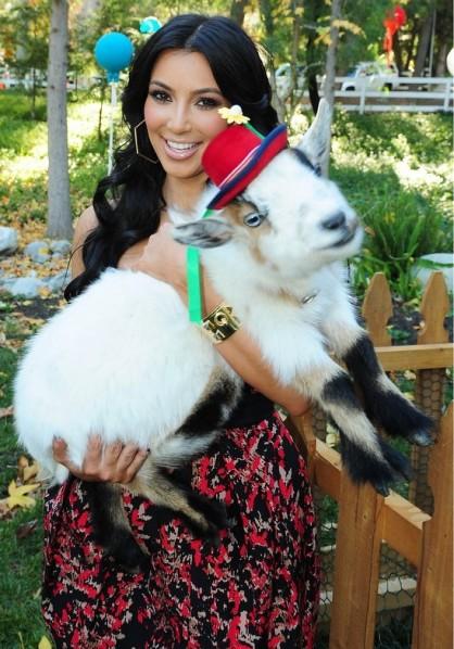 Kim Kardashian goat pet animal