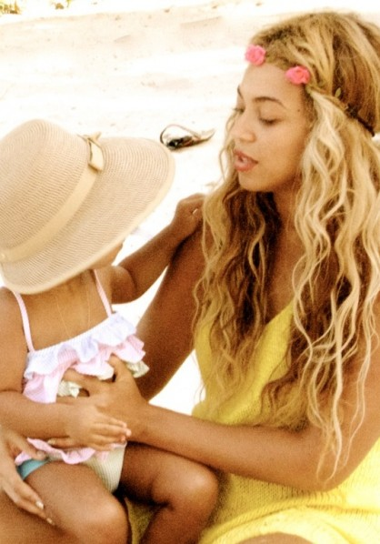 Cover Media - Beyoncé Knowles and Blue Ivy