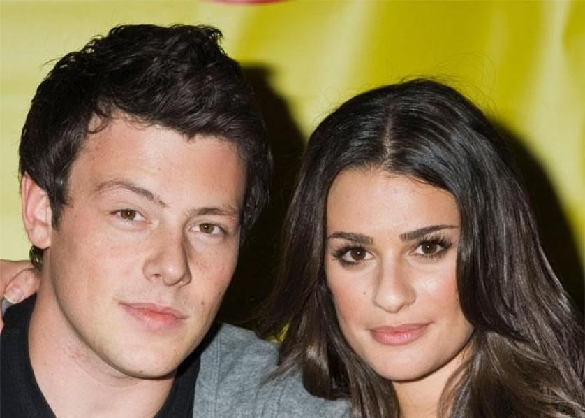 Lea Michele Cory Monteith Glee celeb couple
