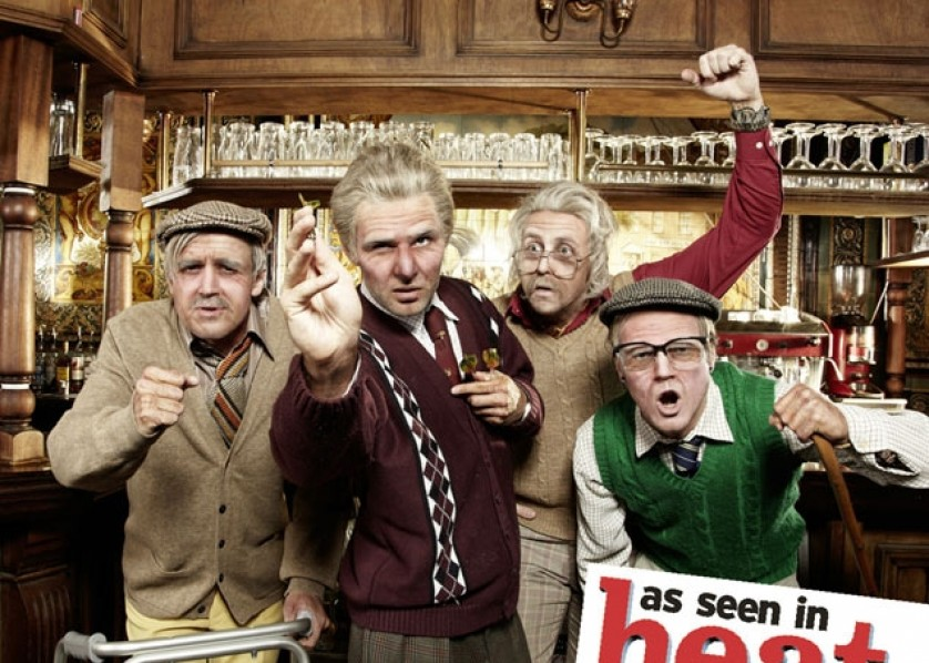 McFly pose as 80-year-olds for heat magazine