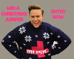 Olly Murs in a Christmas jumper